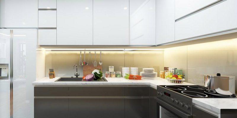 Màu sắc phong phú, tô điểm không gian bếp thêm sang trọng