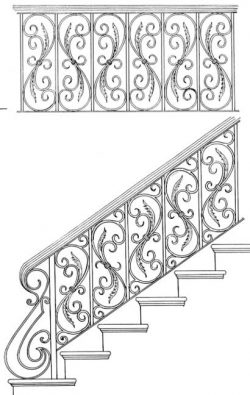 cầu thang sắt 001