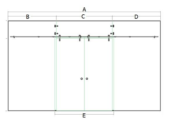 cấu tạo của cửa kính lùa treo